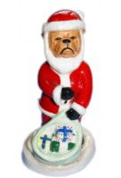 Santa Clause Bulldog - version b